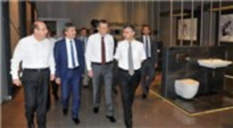 Erdoğan Bektaş Seramiksan'ı ziyaret etti
