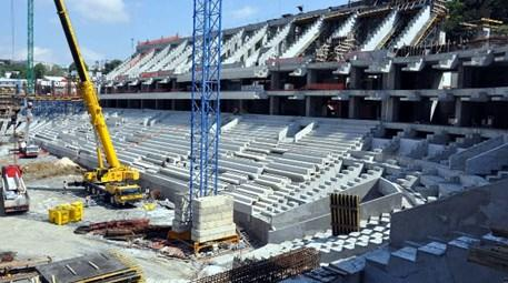 Vodafone Arena'nın inşaatı sürüyor