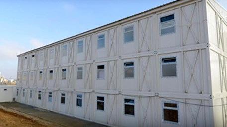 Vekon, 1092 konteynerden oluşan işçi kampını 1 ayda kurdu