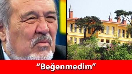 İlber Hoca, Vahdettin Köşkü'nün restorasyonuna...