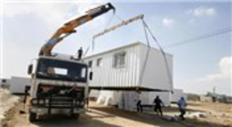 BAE'den Gazze'ye 100 prefabrik ev