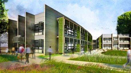 Öğrenci yurtları çevreci olarak inşa ediliyor!
