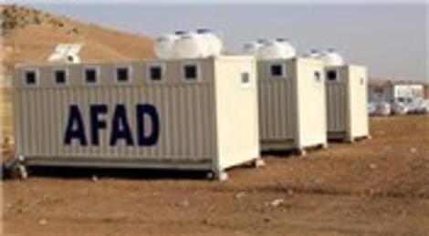 AFAD Irak'a kullanılmak üzere konteyner gönderdi