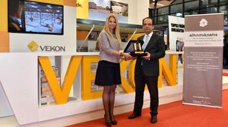 Vekon, Altın Mıknatıs Ödülü'ne layık görüldü!