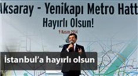 Aksaray-Yenikapı metro hattı törenle hizmete girdi