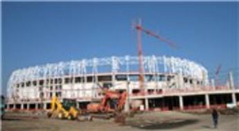 Samsun'un yeni stadyumunun yüzde 65'i tamamlandı