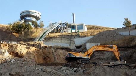 Erzurum'da atlama kulelerinde çalışmalara başlandı