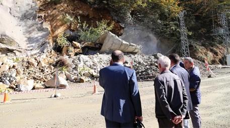 Rize'de tünel inşaatındaki göçük nedeniyle çalışmalar durduruldu!