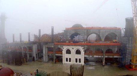Çamlıca Camisi'nin kaba inşaatında sona yaklaşıldı
