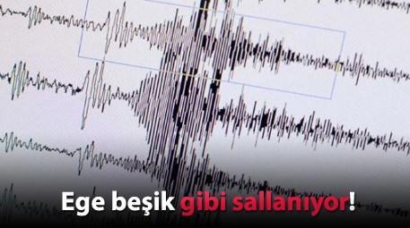Ege'de yine deprem! 3. kez sallandı