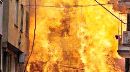 altyapı çalışmasında yangın