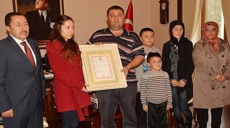 şehit ailesine ev bağışı