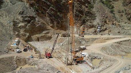 Yusufeli Barajı inşaat çalışmaları