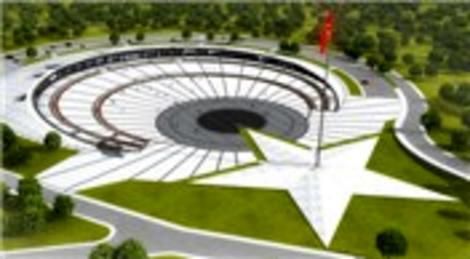 TOKİ, şehitler anısına Ay Yıldızlı tören alanı inşa etti!