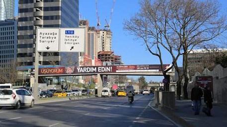 İTÜ Ayazağa Metro önündeki üst geçit kaldırılıyor