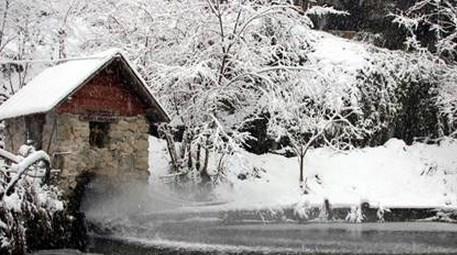 Ayder Yaylası'nda kar