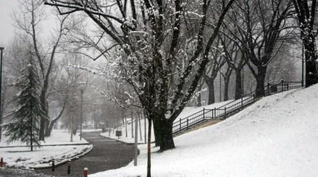 Bursa'da kartpostallık kar manzarası