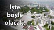 İstanbul'un tarihi Beyazıt Meydanı yenileniyor