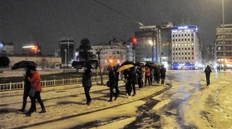 taksim istanbul dolu yağışı