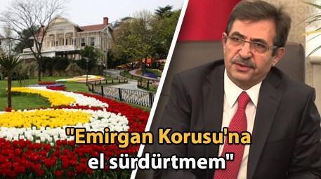 İdris Güllüce, Emirgan Korusu'yla ilgili konuştu