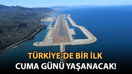 Ordu Giresun Havalimanı'na ilk uçak iniyor!