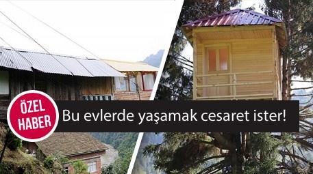 Karadeniz'deki ilginç evler