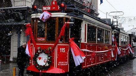 Nostaljik Tramvay'ın yeni yaşı törenle kutlandı!
