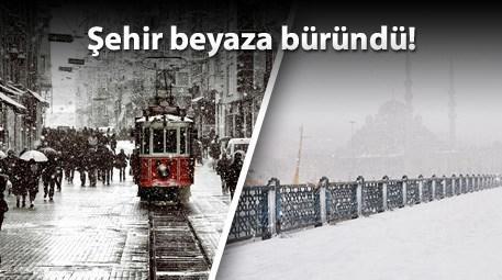 İstanbul'un kar manzaraları kartpostaldan yansımış gibi!
