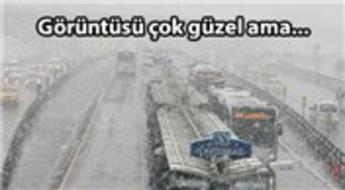İstanbul'da kar eziyete dönüştü!