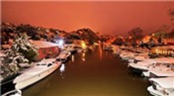 Kar, Beykoz'da kartpostallık görüntüler oluşturdu!