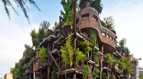Şehrin ortasında doğal yaşam apartmanı!