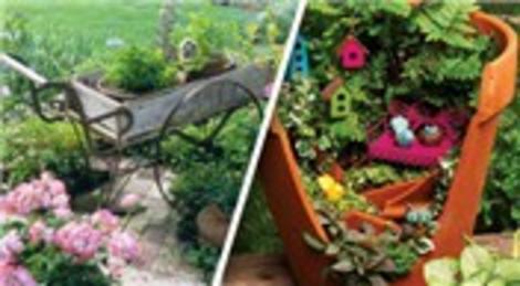Bahçenizi saksılarla masalsı bir ortama dönüştürün!