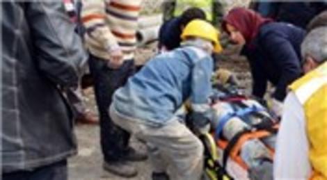 Taraklı'da kanalizasyon çalışması sırasında göçük!