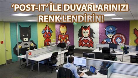 Renkli ve eğlenceli ofisin yolu 'post-it'ten geçiyor!