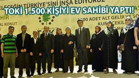TOKİ Kayaşehir'de kura sonucu 1500 kişi ev sahibi oldu!