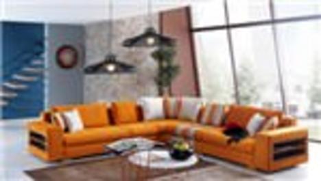 Evinizde turuncu bir köşeye ne dersiniz?