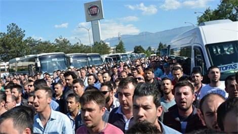 Bursa'da makinelerle birlikte hayat durdu!