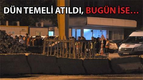 Mecidiyeköy-Kabataş metro inşaatında kaza