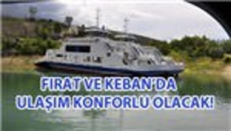Fırat ve Keban'a feribot müjdesi!