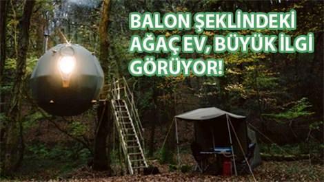 balon ağaç evi