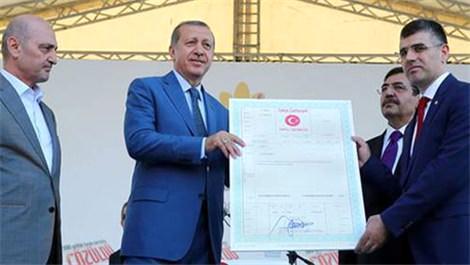 Sultanbeyli tapu devir töreni