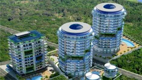 Antalya'da bahçe konseptli yeni proje!