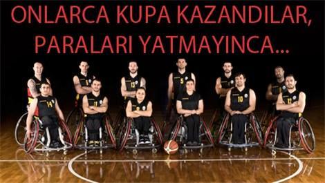 galatasaray tekerlekli basketbol takımı lojmanlardan çıkartıldı