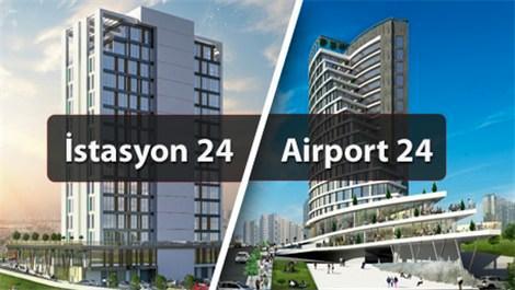 Airport 24 ve İstasyon 24 projelerinde 48 ay 0 faiz!