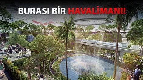 Singapur Changi Havaalanı'na şelale yapacaklar