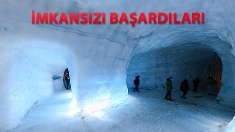 izlanda,mağara, buz,tünel