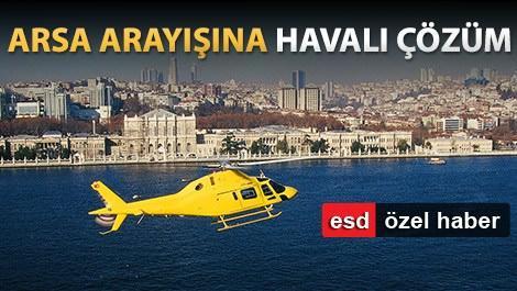 İstanbul semalarında uçan sarı helikopter
