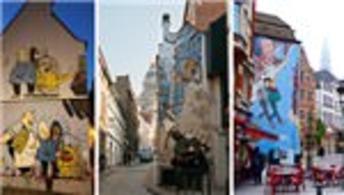 İşte Brüksel'deki inanılmaz 'Çizgi Roman Yolu'