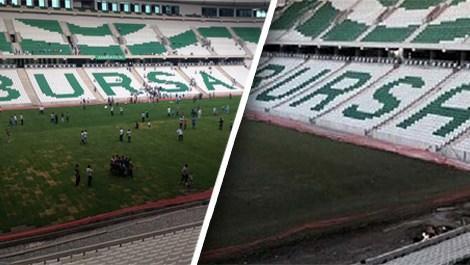 Taraftarlar 'Timsah Arena'yı değiştirdi