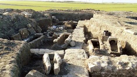 arkeolojik alana rüzgargülü